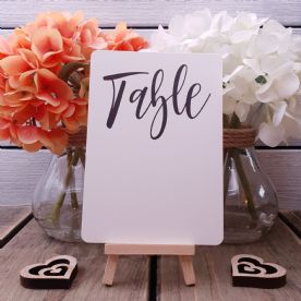 10 Blank Table Numbers With Rounded Corners - Easy To Write On - Write Your Own - Milano Collection